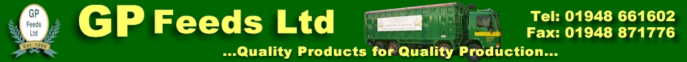GP Feeds Ltd - Quality Products for Quality Production...